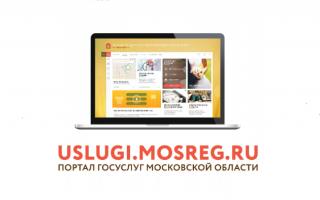 Личный кабинет портала государственных услуг Московской области Мосрег.ру