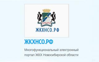Как войти в личный кабинет ЖКХНСО Новосибирск и передать показания счетчиков