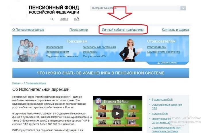 пенсионный фонд севастополь личный кабинет официальный сайт
